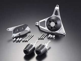 アグラス GSX-R1000 スライダー類 レーシングスライダー フレームタイプL/R+ジェネレーターAタイプ+クラッチタイプ プレート:ブラック/ジュラコン:ブラック