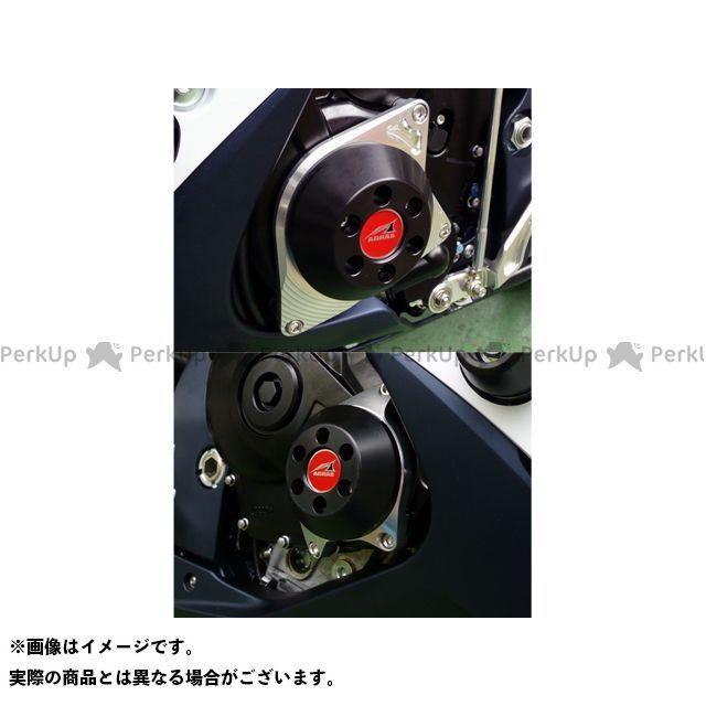 アグラス GSX-R600 GSX-R750 レーシングスライダー ケースカバーSET カラー:ジュラコン/ブラック AGRAS