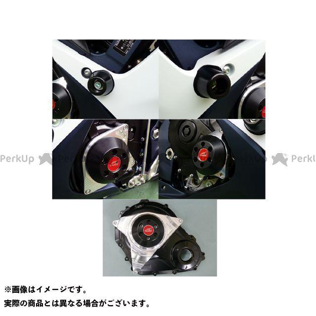 アグラス GSX-R600 GSX-R750 スライダー類 レーシングスライダー 5点SET ジュラコン/ホワイト ロゴ無