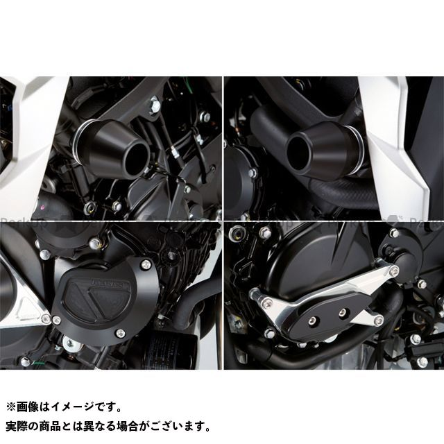 アグラス GSR750 レーシングスライダー 4点SET フレームφ60+スターターB+ジェネレーターA カラー:ジュラコン/ブラック AGRAS