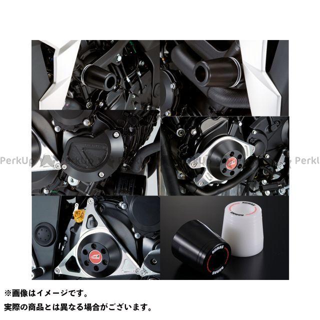 アグラス GSR750 レーシングスライダー 5点SET フレームφ50+スターターB+ジェネレーターC+クラッチ タイプ2 ジュラコン/ブラック ロゴ有 AGRAS