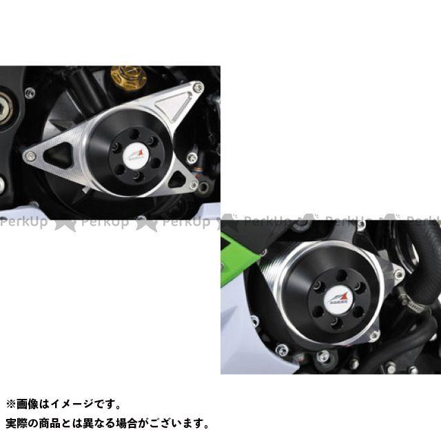 アグラス ニンジャZX-10R レーシングスライダー ケースカバーセット カラー:ジュラコン/ホワイト AGRAS
