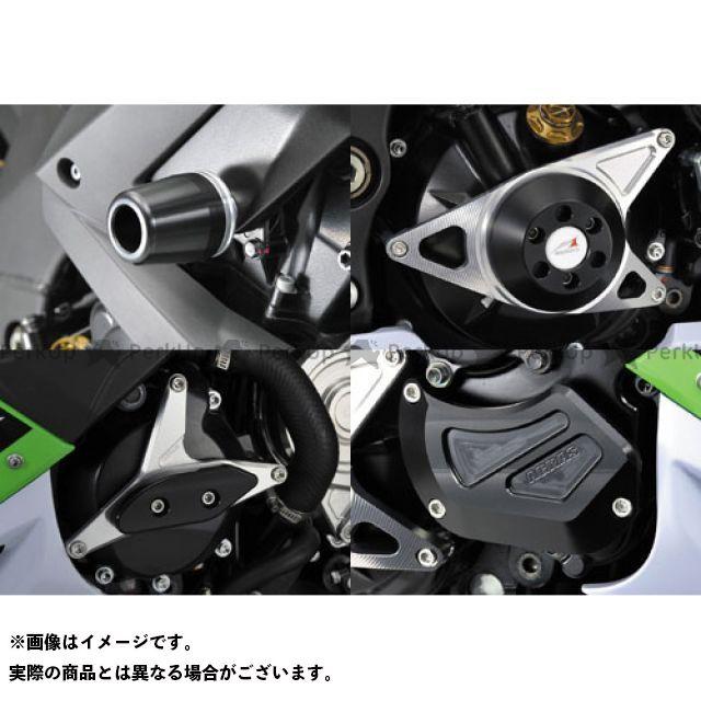 アグラス ニンジャZX-10R スライダー類 レーシングスライダー 5点SET A ジュラコン/ホワイト ロゴ無