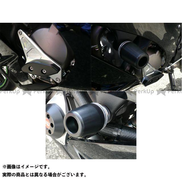 アグラス ニンジャZX-10R レーシングスライダー 3点SET 左A カラー:ジュラコン/ブラック タイプ:ロゴ無 AGRAS