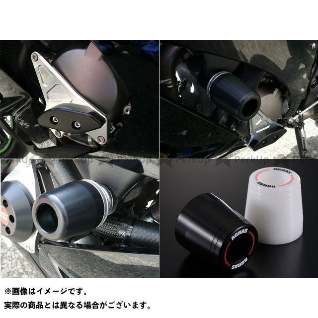アグラス ニンジャZX-10R レーシングスライダー 3点SET 左A カラー:ジュラコン/ブラック タイプ:ロゴ有 AGRAS