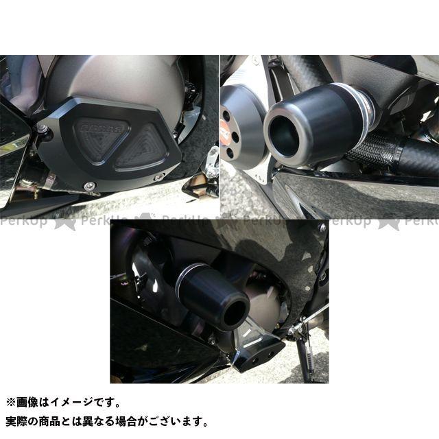【無料雑誌付き】アグラス ニンジャZX-10R レーシングスライダー 3点SET 左B カラー:ジュラコン/ブラック タイプ:ロゴ無 AGRAS