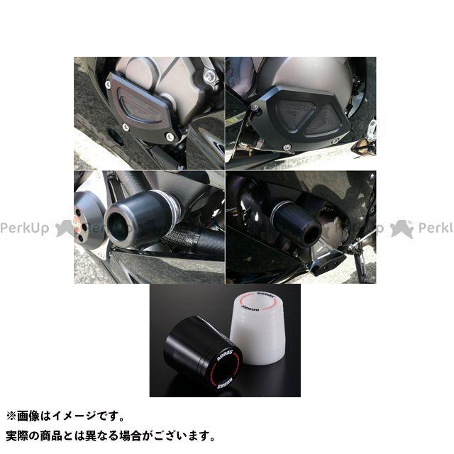 アグラス ニンジャZX-10R スライダー類 レーシングスライダー 4点SET B ジュラコン/ホワイト ロゴ有