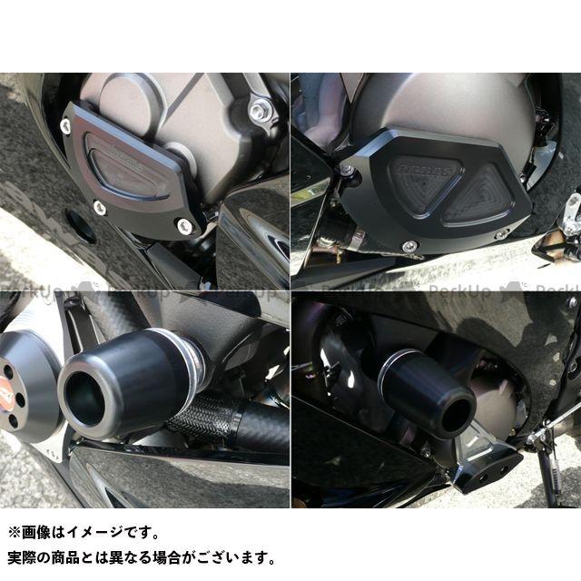 アグラス ニンジャZX-10R スライダー類 レーシングスライダー 4点SET B ジュラコン/ブラック ロゴ無