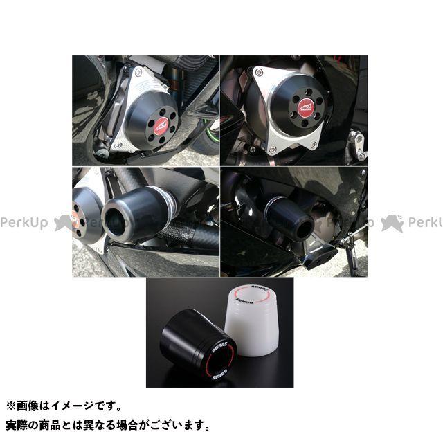 アグラス ニンジャZX-10R レーシングスライダー 4点SET C カラー:ジュラコン/ホワイト タイプ:ロゴ有 AGRAS