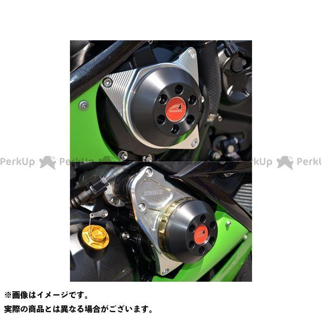 アグラス ニンジャZX-6R スライダー類 レーシングスライダー 2点SET チタン/ホワイト