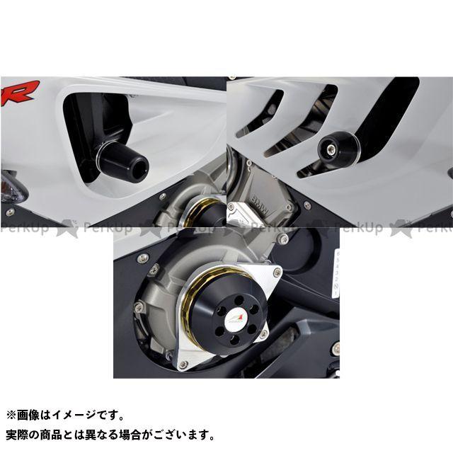 【エントリーで最大P21倍】アグラス S1000RR レーシングスライダー 3点SET フレーム+ジェネレーターA カラー:シルバー/ブラック タイプ:ロゴ無 AGRAS