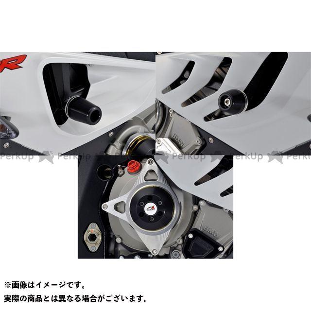 【エントリーで最大P21倍】アグラス S1000RR レーシングスライダー 3点SET フレーム+クラッチ カラー:シルバー/ホワイト タイプ:ロゴ無 AGRAS