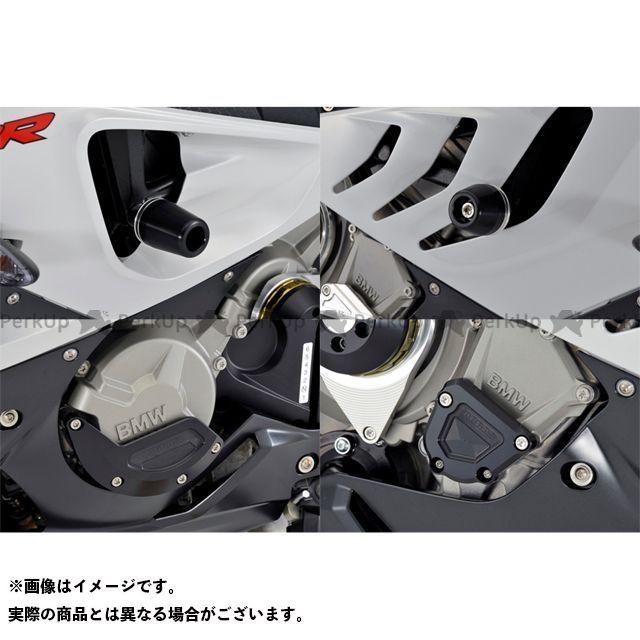 アグラス S1000RR レーシングスライダー 4点SET フレーム+ジェネレーターB+クランクB ジュラコン/ブラック ロゴ有 AGRAS