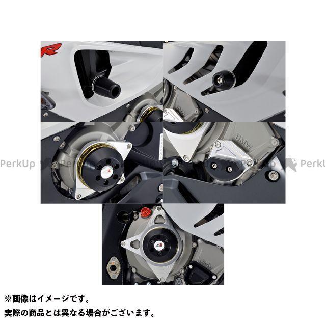 【エントリーで更にP5倍】アグラス S1000RR レーシングスライダー 5点SET フレーム+ジェネレーターA+クランクA+クラッチ カラー:チタン/ホワイト タイプ:ロゴ無 AGRAS