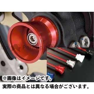 アグラス GSR400 GSR600 GSR750 その他サスペンションパーツ フロントアクスルプロテクター ファンネルタイプ ジュラコン ブラック