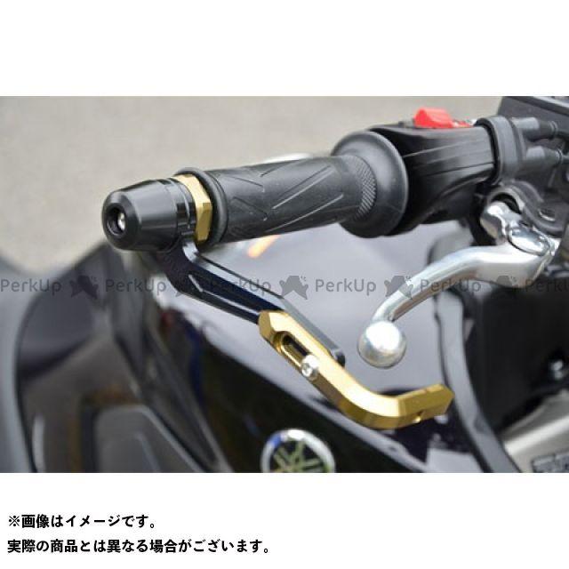 【無料雑誌付き】アグラス MT-07 MT-09 レバーガード ガードエンド&ベースカラー:ブラック ガードステー:ゴールド ジュラコン:ブラック AGRAS