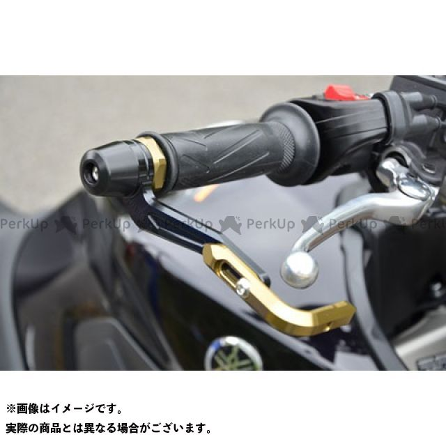 【無料雑誌付き】アグラス MT-07 MT-09 レバーガード ガードエンド&ベースカラー:チタン ガードステー:ゴールド ジュラコン:ホワイト AGRAS