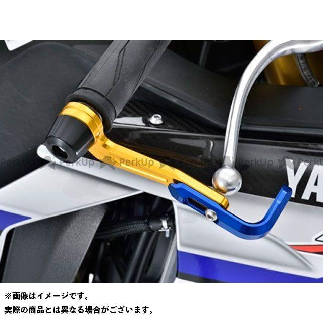 【無料雑誌付き】アグラス YZF-R1 YZF-R1M レバーガード ガードエンド&ベースカラー:ガンメタ ガードステー:ブルー ジュラコン:ホワイト AGRAS