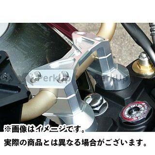 アグラス ZRX1200ダエグ ハンドルアッパーブラケット(シルバー)
