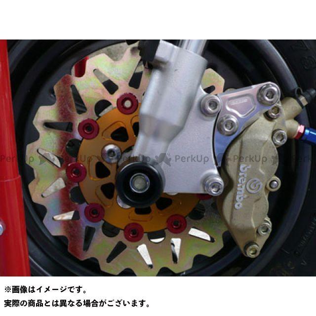【エントリーで最大P21倍】アグラス KSR110 フロントディスクローター&サポートセット 4P カラー:インナー:ゴールド ピン:レッド AGRAS