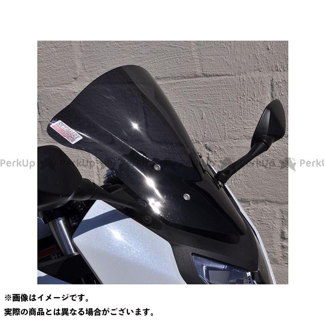【エントリーで更にP5倍】スキッドマークス CBR650F ウィンドスクリーン ダブルバブルタイプ カラー:ブラック Skidmarx