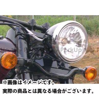 アメリカンドリームス バルカン1500ドリフター 電装ステー・カバー類 ノーマルヘッドライトUPステー(ブラック)