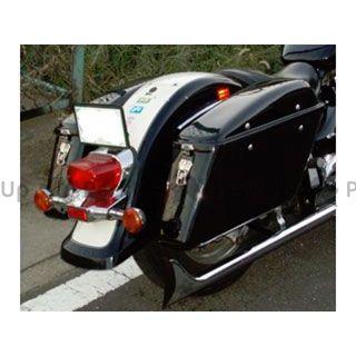 アメリカンドリームス イントルーダークラシック400 ツーリング用ボックス ツーリングBOX 黒ゲルコート 片側