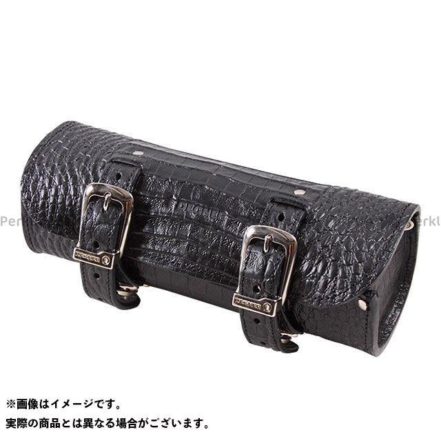 送料無料 DEGNER デグナー ツーリング用バッグ TB-4CR クロコダイル柄レザーツールバッグ ブラック