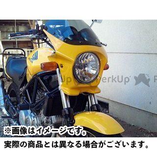 ワールドウォーク CB400スーパーフォア(CB400SF) ホーネット VTR250 カウル・エアロ 汎用ビキニカウル DS-01 typeR(パールシャイニングイエロー)