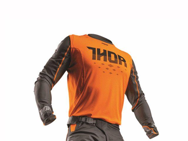 THOR ソアー モトクロス用品 2017モデル PRIMEFIT ROHL MXジャージ フローオレンジ/グレー XL