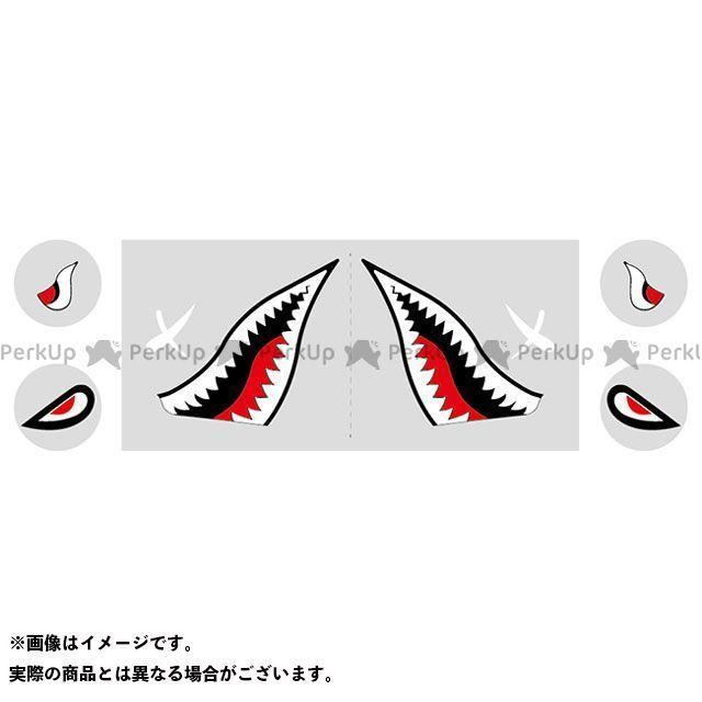 ワールドウォーク GSX400Sカタナ カタナ400用 シャークマウスステッカー タイプ1 WW