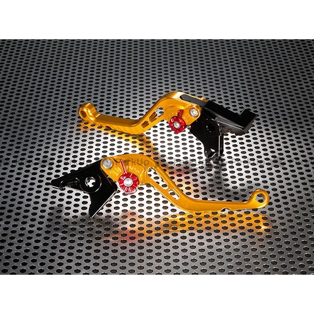 ユーカナヤ ノルゲ1200GT スタンダードタイプ ショートアルミビレットレバーセット レバー:ゴールド アジャスター:オレンジ U-KANAYA