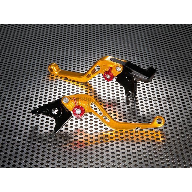 ユーカナヤ RSV4ファクトリー RSV4 R スタンダードタイプ ショートアルミビレットレバーセット レバー:ゴールド アジャスター:オレンジ U-KANAYA