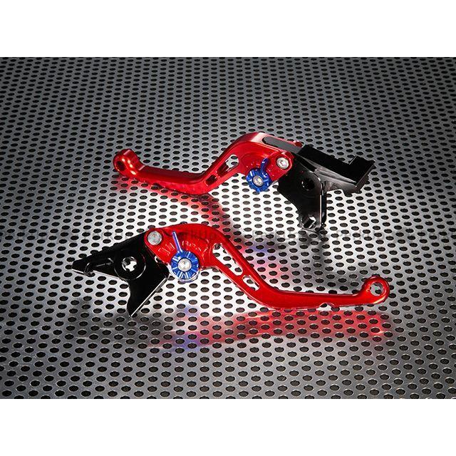 ユーカナヤ トゥオーノ1000R トゥオーノ1000 スタンダードタイプ ショートアルミビレットレバーセット レバー:レッド アジャスター:ブルー U-KANAYA