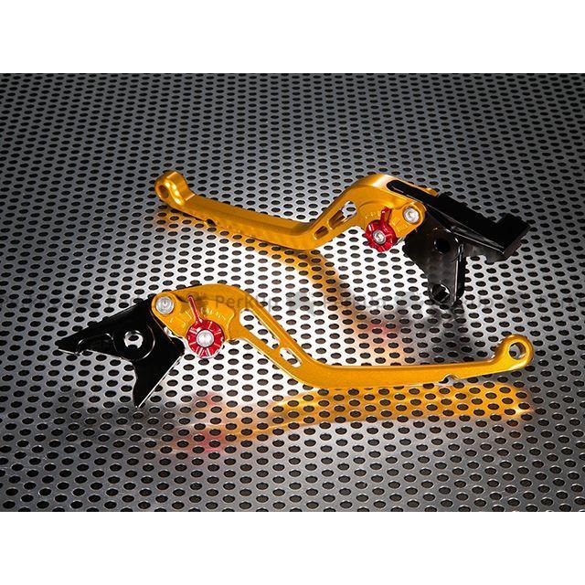 ユーカナヤ RSV4ファクトリー RSV4 R スタンダードタイプ ロングアルミビレットレバーセット レバー:ゴールド アジャスター:オレンジ U-KANAYA