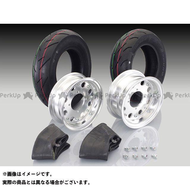 キタコ ゴリラ モンキー モンキーバハ 8インチアルミホイール入門セット 3.50/8+110/80タイヤ カラー:ブラック塗装 KITACO