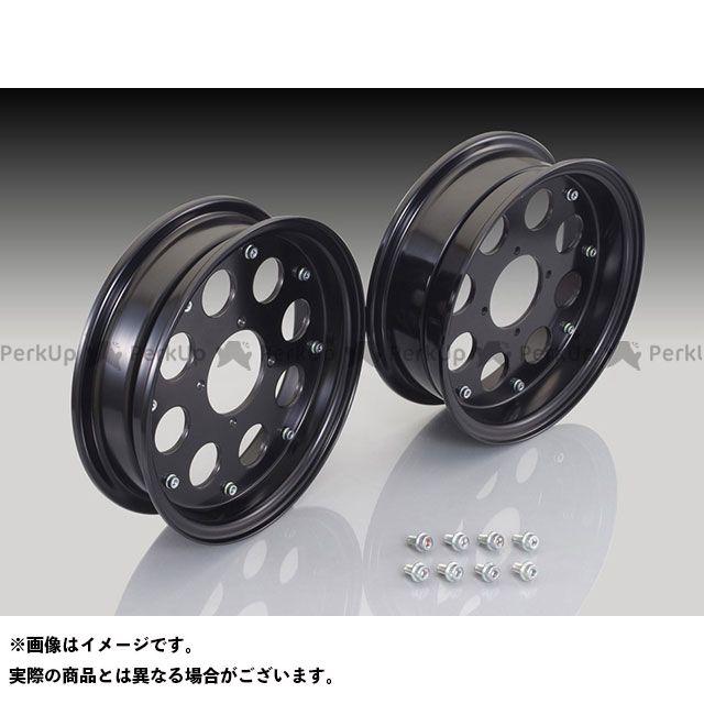 キタコ ゴリラ モンキー モンキーバハ 10インチアルミホイールセット 2.50+3.25 カラー:ブラックアルマイト KITACO
