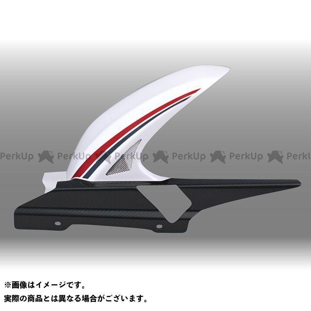 フォルスデザイン CB1300スーパーツーリング CB1300ST ハイブリッド・インナーフェンダー カラー:ストライプ・ホワイト(2010-2013) 素材:綾織りカーボン 仕様:ロング・スリット有り FORCE DESIGN