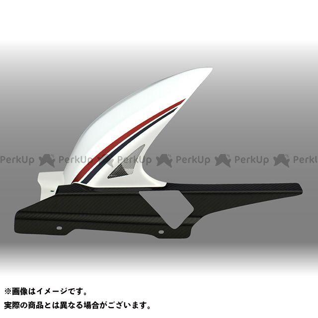 フォルスデザイン CB1300スーパーツーリング CB1300ST ハイブリッド・インナーフェンダー カラー:ストライプ・ホワイト(2010-2013) 素材:綾織りカーボン 仕様:ショート・スリット有り FORCE DESIGN