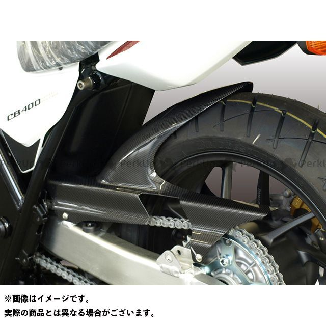 【エントリーで更にP5倍】フォルスデザイン CB400スーパーフォア(CB400SF) CB400SF VTEC インナーフェンダー カラー:平織りカーボン 仕様:スリット無し FORCE DESIGN
