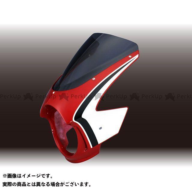フォルスデザイン CB400スーパーフォア(CB400SF) CB400SF VTEC II ビキニカウル CBXカラー【TYPE-A】 キャンディブレイジングレッド スモーク スプリントスクリーン