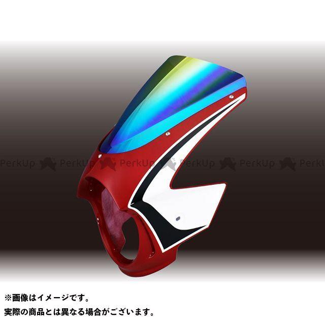 フォルスデザイン CB400スーパーフォア(CB400SF) CB400SF Revo ビキニカウル CBXカラー【TYPE-B】 キャンディブレイジングレッド ミラー スプリントスクリーン