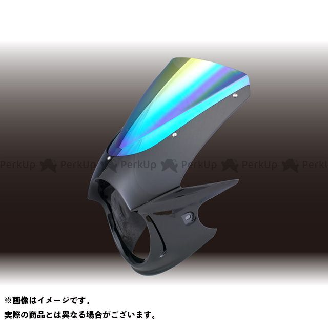 フォルスデザイン VTR250 VTR250(FI) ビキニカウル デジタルシルバーメタリック ミラー スプリントスクリーン FORCE DESIGN