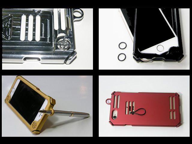 送料無料 ハードコア HARDCORE 小物・ケース類 メタルサウンドジャケット iPhone6s/6 マシンフィニッシュ(アルミ地)