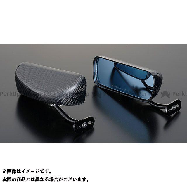 送料無料 マジカルレーシング 汎用 ミラー関連パーツ GT カーボンミラー タイプ2(ブラックステム) 綾織りカーボン製 B