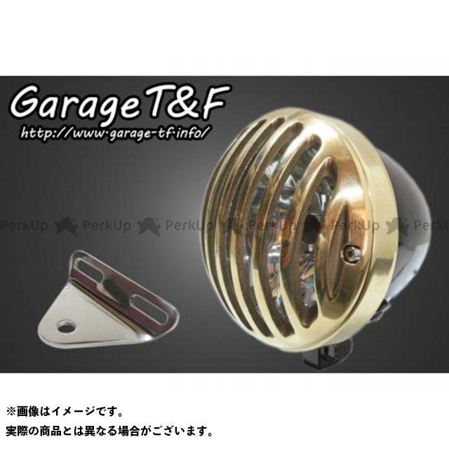 ガレージT&F ドラッグスター1100(DS11) 4.5インチバードゲージヘッドライト&ライトステー(タイプA)キット ヘッドライト:ブラック ゲージ:真鍮 ガレージティーアンドエフ