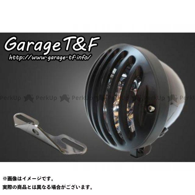 ガレージTF ガレージティーアンドエフ ヘッドライト・バルブ 電装品 ガレージTF ドラッグスタークラシック1100(DSC11) 4.5インチバードゲージヘッドライト&ライトステー(タイプB)キット ブラック ブラック ガレージティーアンドエフ