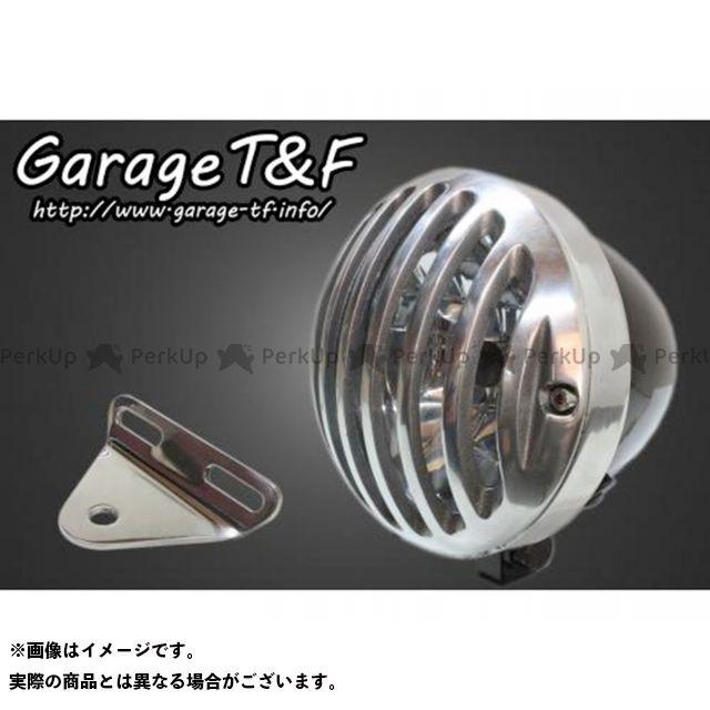 ガレージTF ガレージティーアンドエフ ヘッドライト・バルブ 電装品 ガレージTF ビラーゴ250(XV250ビラーゴ) 4.5インチバードゲージヘッドライト&ライトステー(タイプA)キット ブラック ポリッシュ ガレージティーアンドエフ