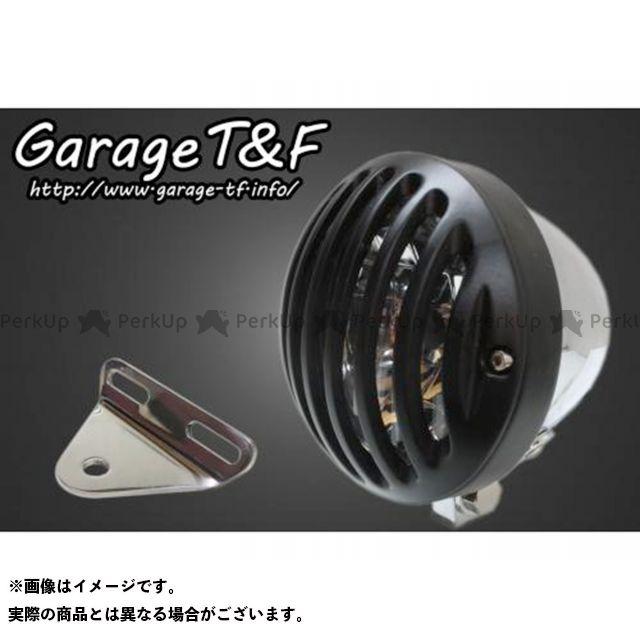 ガレージTF ガレージティーアンドエフ ヘッドライト・バルブ 電装品 ガレージTF シャドウスラッシャー 4.5インチバードゲージヘッドライト&ライトステー(タイプA)キット メッキ ブラック ガレージティーアンドエフ