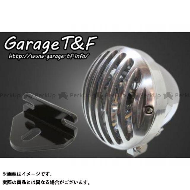 ガレージTF ガレージティーアンドエフ ヘッドライト・バルブ 電装品 ガレージTF 250TR 4.5インチバードゲージヘッドライト&ライトステー(タイプE)キット メッキ ポリッシュ ガレージティーアンドエフ